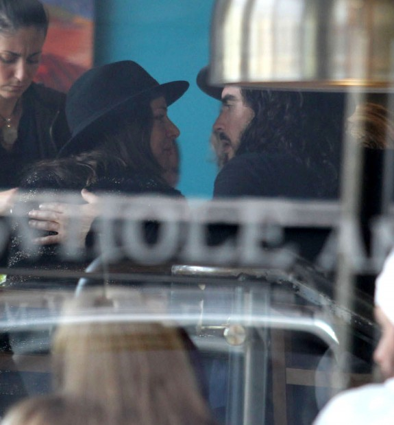 Russell Brand Caught Getting Cozy Out For Lunch With His New Girlfriend (Photo)