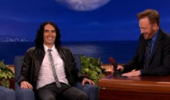 WATCH: Russell Brand Gets Pubic on Conan