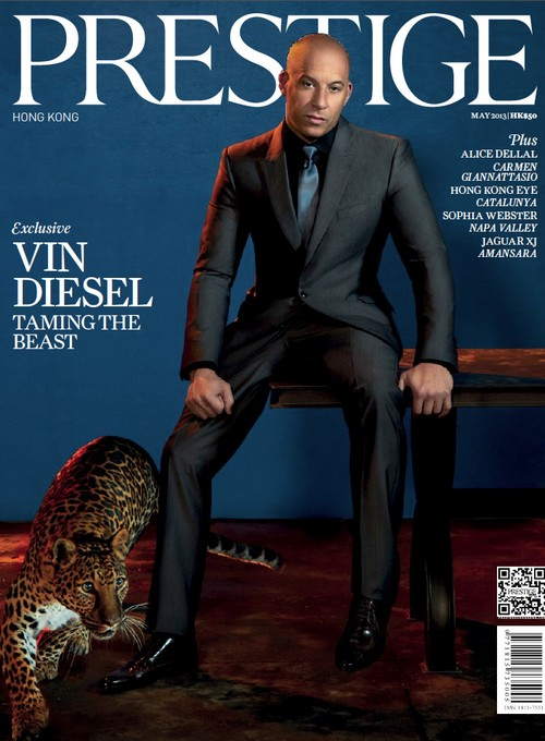 Vin Diesel Covers Prestige Hong Kong May 2013