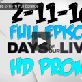 VIDEO: Watch Days Of Our Lives Today (Thursday 2/11/16) Full Episode HERE!