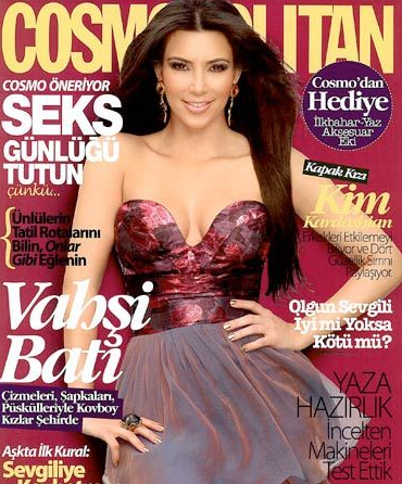 Kim Kardashian Cosmopolitan Turkish Cover