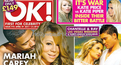 OMG! Nick Cannon Gives Mariah Carey A Hand Bra For Naked Cover of &#8216;Ok! UK&#8217; &#8211; Photos