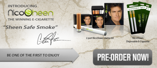 Charlie Sheen Launches E-Cigarettes 'NicoSheen' (Yes, This Is REAL)