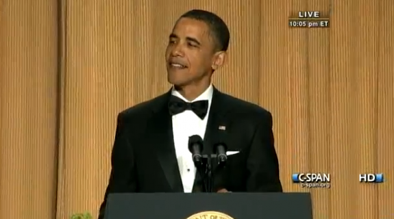 Barack Obama - White House Correspondents Dinner - 2011