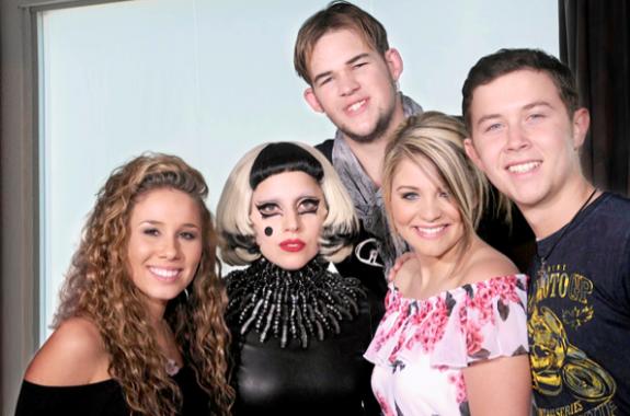 American Idol Top 4 and Lady Gaga May 2011