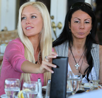Heidi Montag and Danielle Staub - Famous Food
