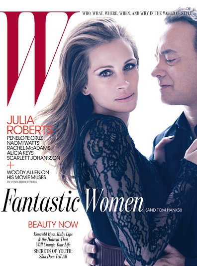 Julia Roberts and Tom Hanks Rock W Magazine – PHOTOS