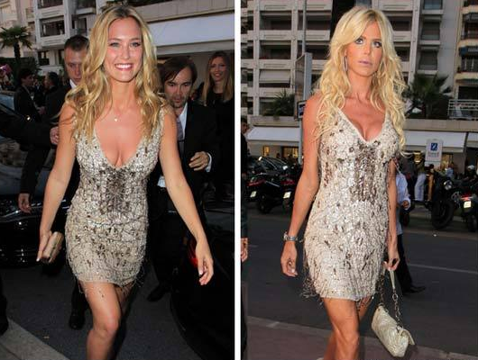 Bar Refaeli and Victoria Silvstedt SAME Dress in Cannes