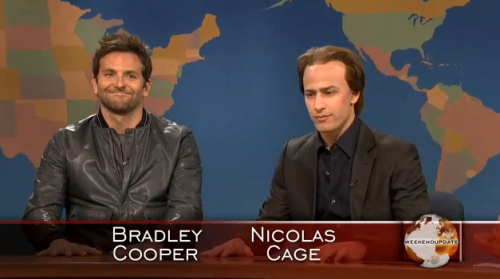 SNL: Bradley Cooper Does Weekend Update – VIDEO