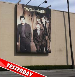 &#8216;Two and a Half Men&#8217; Puts Up NEW Banner, MINUS Charlie Sheen &#8211; Photos