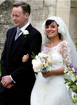 Lily Allen and Sam Cooper Wedding Photo