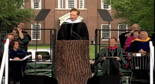 FUNNY: Conan O'Brien's Dartmouth Commencement Address – Video