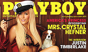 PHOTOS: Crystal Harris – Playboy July 2011 Issue… Yeah… Awkward