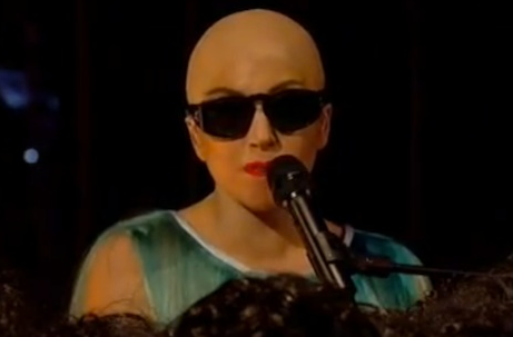 WATCH: Lady Gaga is BALD For 'Hair' Performance – VIDEO
