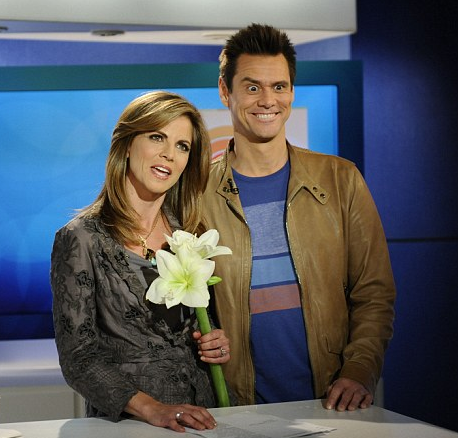 Jim Carrey and Natalie Morales