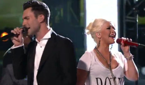 VIDEO: Adam Levine and Christina Aguilera ROCK 'Moves Like Jagger'