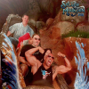 Dwayne Johnson aka The Rock at Disneyland on Splash Mountain