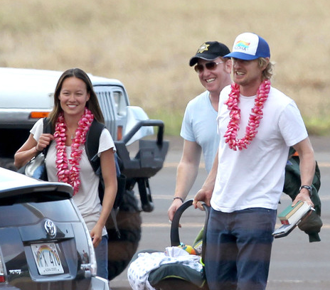 Owen WIlson and Jade Duell with son, Robert
