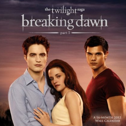 &#8216;Breaking Dawn &#8211; Part 1&#8242; 2012 Wall Calendar