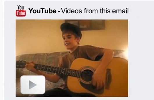 Justin Bieber Google Chrome Commercial