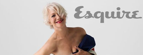 Helen Mirren Union Jack Post - Esquire