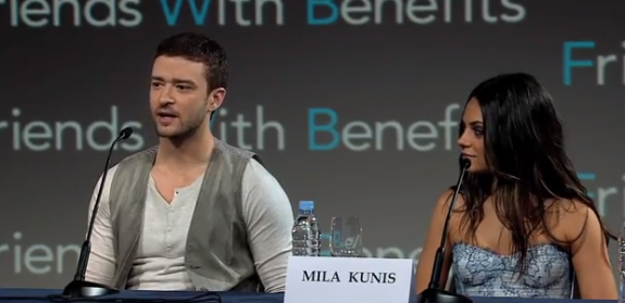 Justin Timberlake and Mila Kunis - Freinds With Benefits