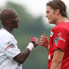 Chad Ochocinco and Tom Brady - Patriots Practice