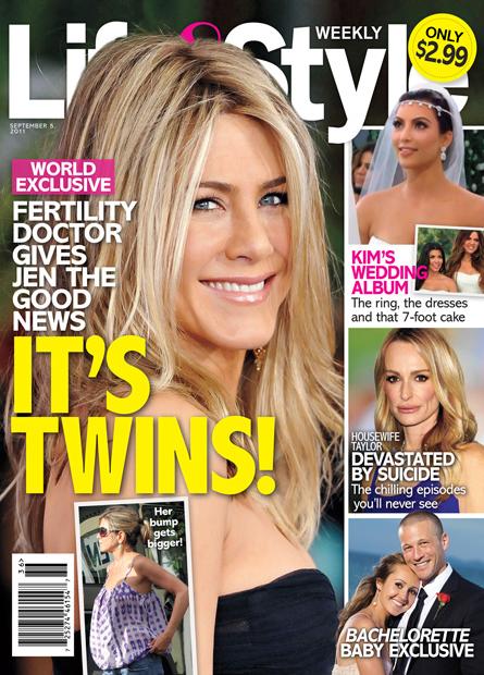 Jennifer Aniston Pregnant With Twins - Baby Bump Photo
