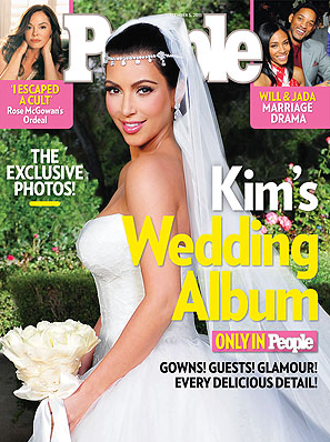 Kim Kardashian People Magazine - Wedding Photo Album Cover