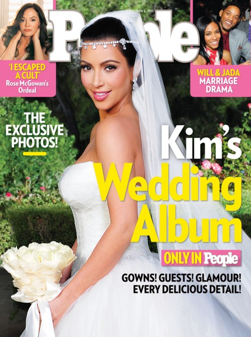Kim Kardashian Wedding Album - People Mag Cover