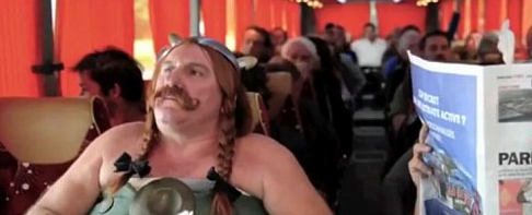 VIDEO: Gerard Depardieu Mocks Himself in Airplane Peeing Spoof