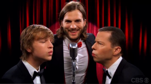 NEW: Ashton Kutcher: 'Two and a Half Men' Open 'Manly Men' – VIDEO