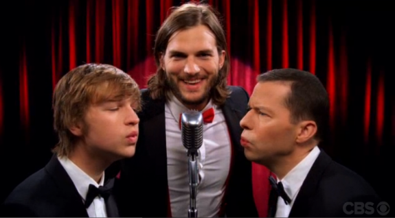 "Ashton Kutcher - Two and a Half Men - ""Manly Men"" Open Video"