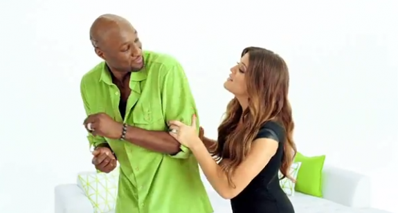 Lamar Odom and Khloe Kardashian Get Nutty