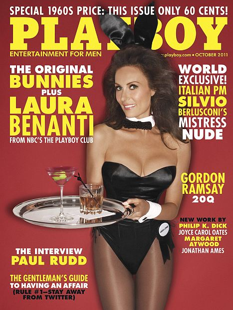 Playboy Spread Goes Vintage – October 2011 Issue – 60 Cents