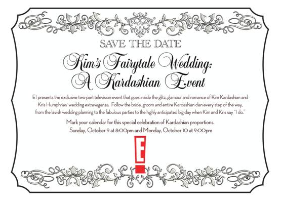 Kim Kardashian - Save The Date for E! Special