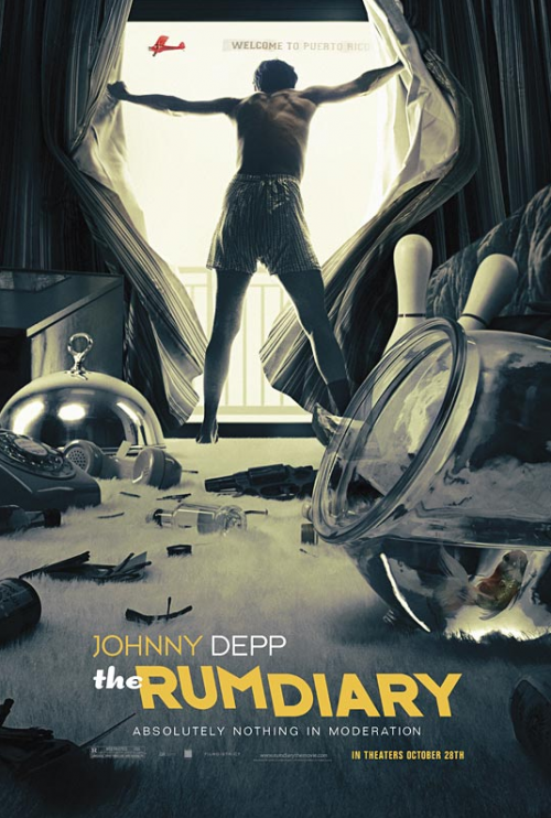 Johnny Depp Channels 'The Hangover' in NEW 'The Rum Diary' Poster