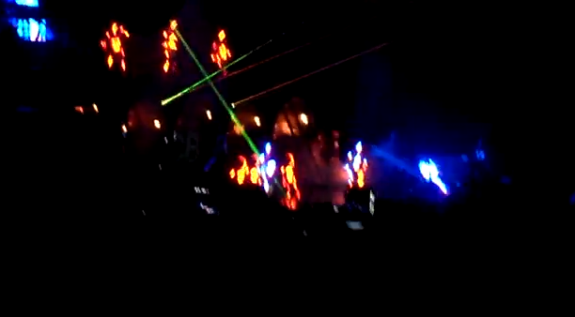 Chris Brown Falling on Stage in Indy