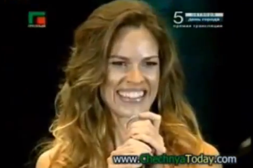 VIDEO: Why is Hilary Swank LYING About  Ramzan Kadyrov?