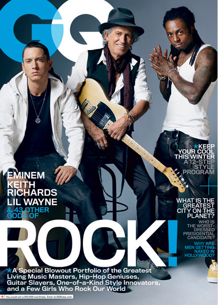 Photo, Video: Eminem, Lil Wayne, and Keith Richards OWN The Cover of GQ