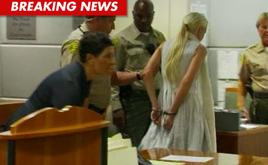 Lindsay Lohan Cuffed on October 19, 2011