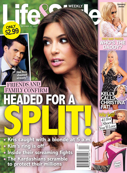 Kim Kardashian and Kris Humphries SPLIT Cover