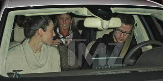 Justin Timberlake and Jessica Biel with his Parents - Double Date - 1