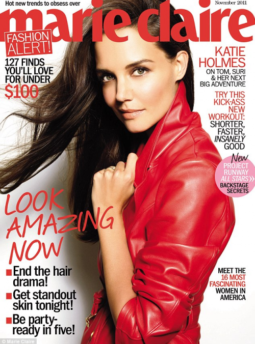 PHOTOS: Katie Holmes is RED HOT For Marie Claire