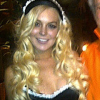Lindsay Lohan at Playboy Mansion - Halloween - French Maid