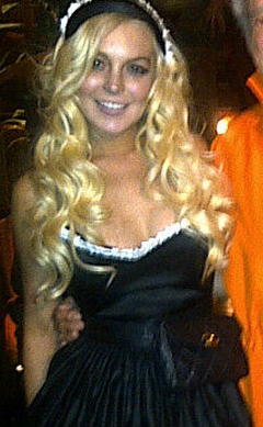 Photos: Lindsay Lohan Brings Her Sexy To The Playboy Mansion For Halloween