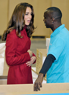 Kate Middleton Rubbing Belly at UNICEF in Denmark