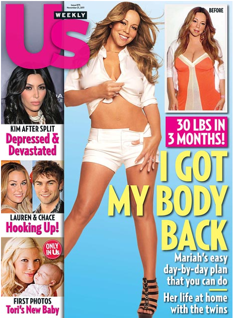 Mariah Carey Post Baby Bod - Us Weekly Cover