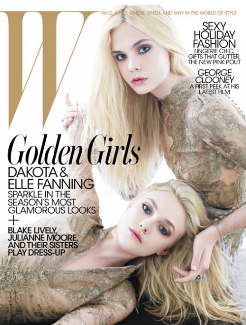 PHOTOS: Elle and Dakota Fanning Are STUNNING For W Magazine &#8211; Dec 2011