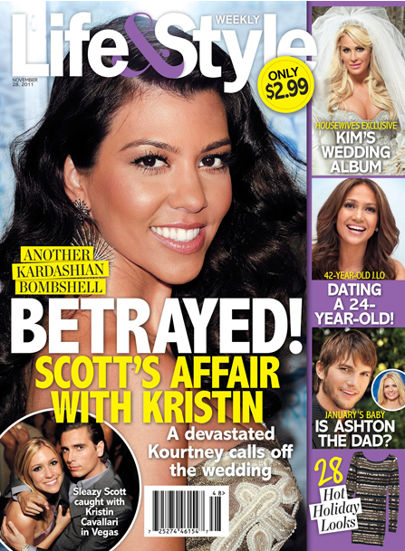 Kourtney Kardashian, Scott Disick, Kristin Cavallari - Cover